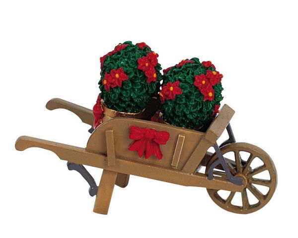 LEMAX - Cart With Poinsettias