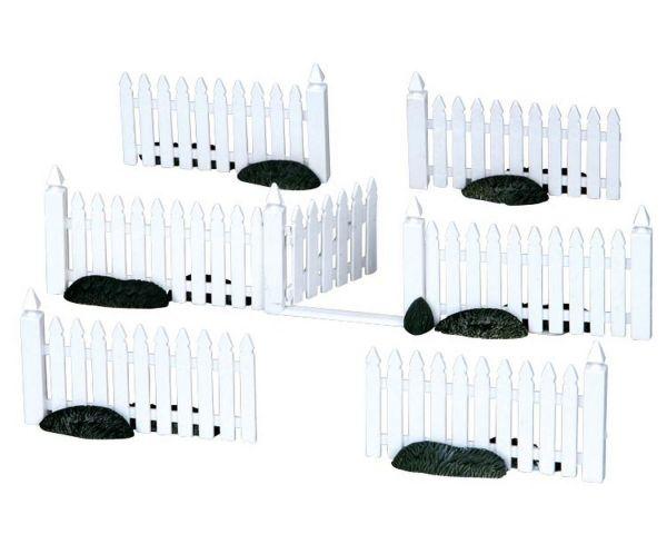 LEMAX - Plastic Picket Fence, Set/7