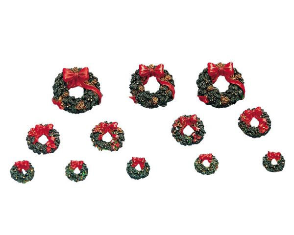LEMAX - Wreaths With Red Bow